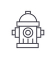 water towerhydrant line icon sig vector image vector image