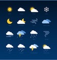 weather forecast meteorological icons vector image