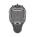 goalkeeper hockey helmet vector image