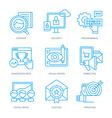 SEO and Digital Marketing Icons vector image