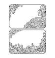 Set of two floral decorative frames vector image