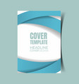 abstract report cover 14 vector image vector image