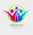 alliance or healthy community vector image