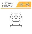award statue line icon vector image vector image