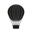 ballon black holiday icon vector image