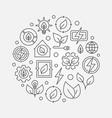 bioenergy circular outline vector image