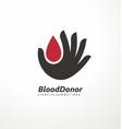 blood donor creative logo vector image