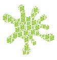 blot composition of flora plant icons vector image