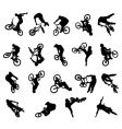 Bmx rider silhouettes vector | Price: 1 Credit (USD $1)