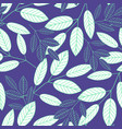 botanical seamless pattern abstract blue vector image vector image