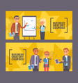 business oratory courses set banners vector image vector image