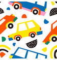 car abstract shape seamless pattern background vector image vector image