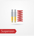 car spring and shock absorber flat image vector image