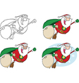 Cartoon santa design vector image vector image