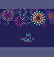Celebrate background with fireworks border