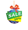 christmas sale isolated sticker vector image vector image