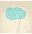 Cloud concept Connect with cloud vector image