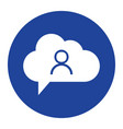cloud user icon computing concept vector image