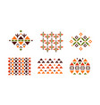 collection of abstract bright geometric patterns vector image