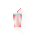 color paper takeaway cola cup icon vector image
