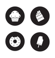 Confectionery icons set Black vector image vector image
