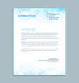 coporate business letterhead vector image vector image