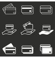 Credit card icon set vector image vector image