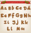 cute hand drawn Christmas gingerbread cookie vector image vector image