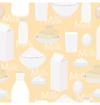 dairy products seamless background vector image vector image