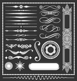 decorative lines and border elements set vector image vector image