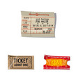design ticket and admission icon vector image vector image
