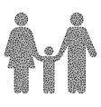 family child mosaic of small circles vector image vector image
