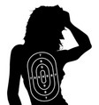 female human shape target vector image vector image