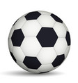 football ball black and white vector image vector image