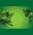 green tropical nature poster vector image vector image
