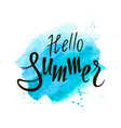 hand drawn lettering hello summer vector image vector image