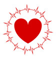 heart with a cardiogram around the heart vector image