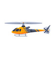 helicopter aircraft flying orange chopper air vector image vector image