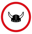 Horned Helmet Flat Rounded Icon vector image vector image