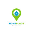 house with pin point location symbol logo design vector image