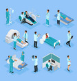 isometric doctors and patients set vector image vector image