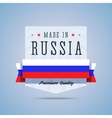 Made in Russia badge vector image vector image