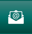 mail envelope icon isolated on green background vector image
