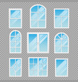modern transparent windows different forms vector image vector image