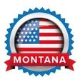 Montana and USA flag badge vector image vector image