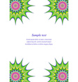 Multicolored page corner design template vector image vector image
