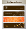 nature web headers vector image vector image