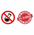 no chemical analysis icon with distress no rubber vector image vector image