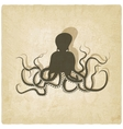 octopus on old background vector image vector image