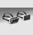 optical head-mounted display vector image vector image